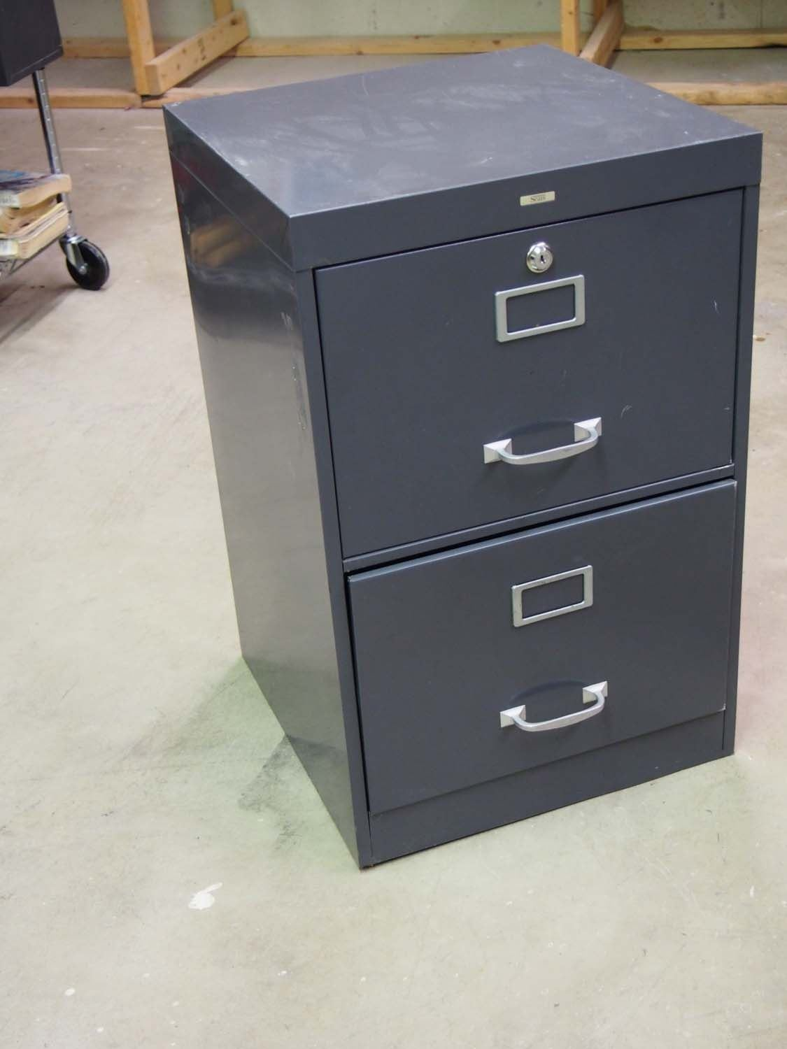 Image 1  Sears Two Drawer Metal Filing Cabinet 18 x18 x28  ... & Sears Two Drawer Metal Filing Cabinet 18