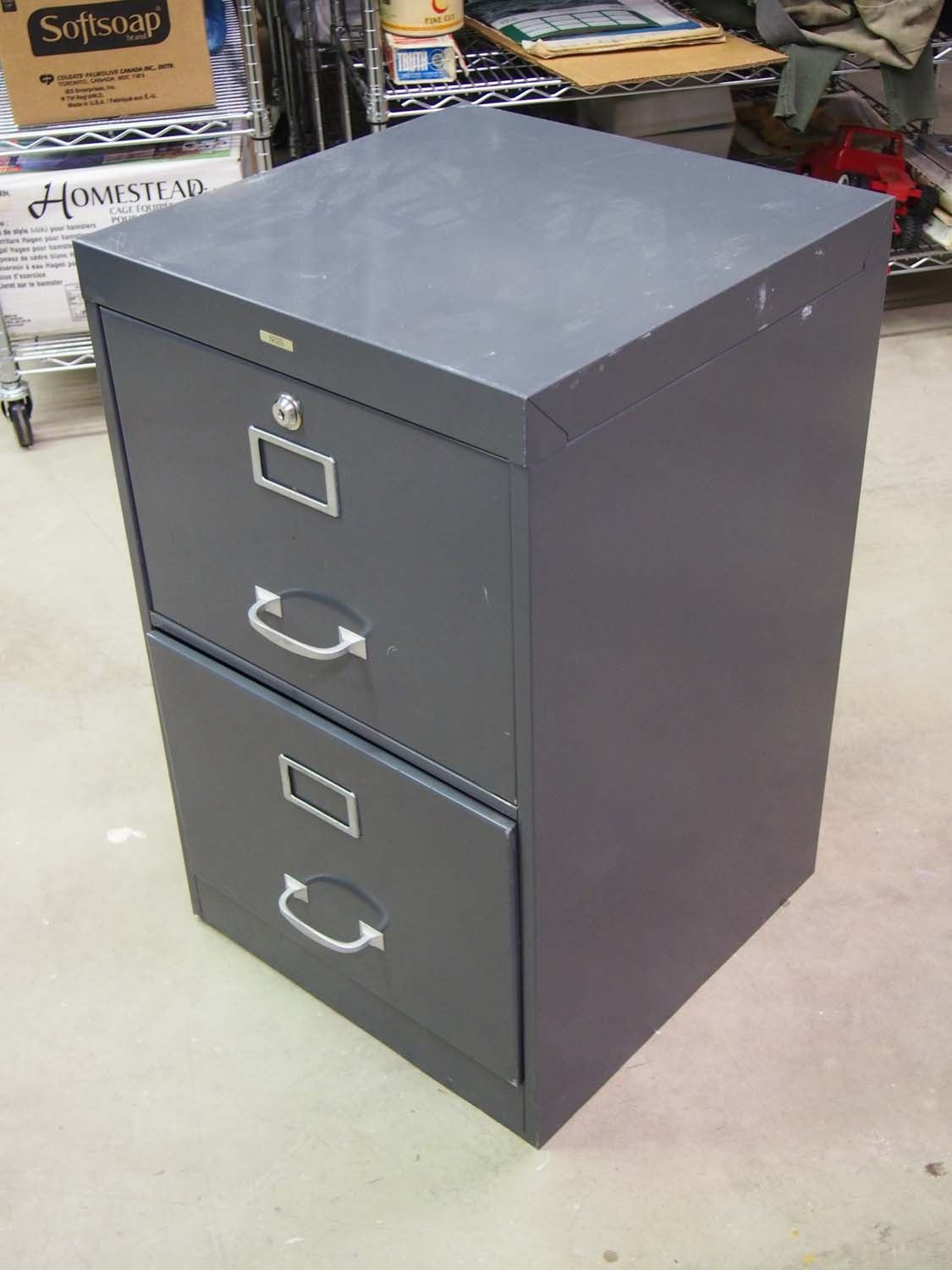 ... Image 2  Sears Two Drawer Metal Filing Cabinet 18 x18 x28  ... & Sears Two Drawer Metal Filing Cabinet 18