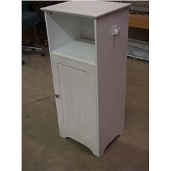 "White Bathroom Cabinet 16""x13""x38"""
