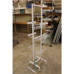 "Double Sided White Display Rack (5ft 4"" Tall)"