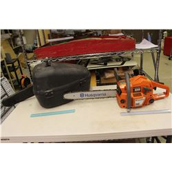 "Huskavarna 16"" Chain Saw W/ Case And Repair Recipt"