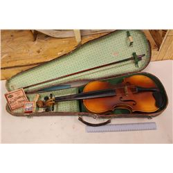 Rare Antique Violin w/Alligator Skin Case & Bow