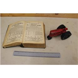 Massey Harris Universal Machinery Parts Manual(Early 1900s)& A Massey Harris Tractor w/Plastic Wheel
