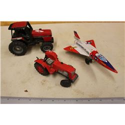 Case International 2294& A Gorgie France Toy Tractors& A USA Airforce Friction Plane