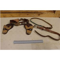 Assorted Leather Children Toy Gun Belts & Beaded Belts (1950s)