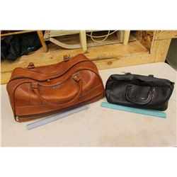 Leather Doctor's Bag & An Overnite Bag