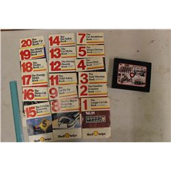 Texaco Set of Postcards in Original Box& Shell-The Longer Car Life Booklet Set (1-20,Missing #10)