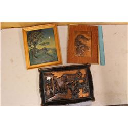 Copper Dog, Relief Painting & Copper Scene Pictures