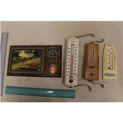 Vintage Advertising Thermometers (4)