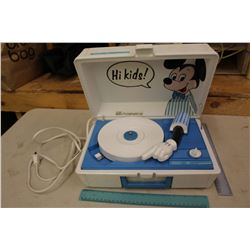Vintage Walt Disney Mickey Mouse Record Player (Made in USA, Sears Electronics)