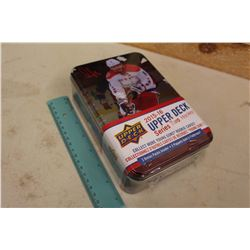 Sealed Collector Tin Box of 2015-16 Upper Deck Series 2 Hockey Cards, 12 Packs