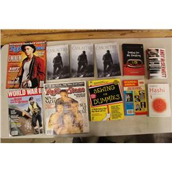 Lot of Books & Magazines: Rolling Stone, Sewing For Dummies, Casualties & more.