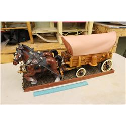 Team of Horses w/Light Up Covered Wagon (Working)