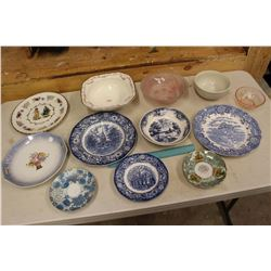 Lot of Vintage Dishware (Plates, Bowls, Etc)