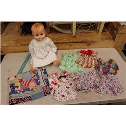 Vintage Baby Doll w/Assorted Clothes