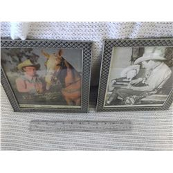 Pair of Roy Rogers Pictures- Signed