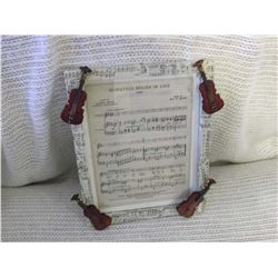 Novelty Miniature Violins Picture
