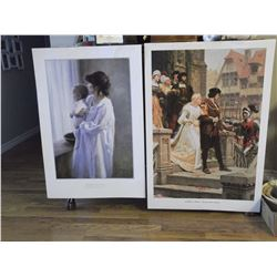 "Mother & Son Print by R.Duncan (20""x 26"")& Call to Arms Print by E.Leighton (26""x 39"")"