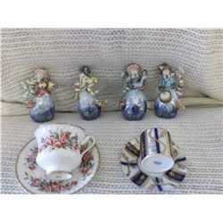 Cups, Saucers & Ornaments (1 Paragon, 1 Miniature)(No Chips or Cracks)