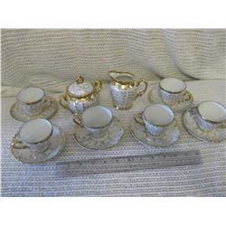 Mini Tea Set for 6 (No Chips or Cracks)