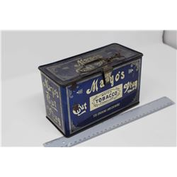 Mayo's Cut Plug Lunch Box Tobacco Tin
