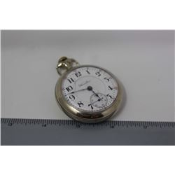 Hamilton Lancaster Railroad Pocket Watch, 17 Jewel, Working, With Safety Set