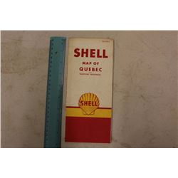 Shell Map of Quebec & Maritime Provinces (Great Condition)