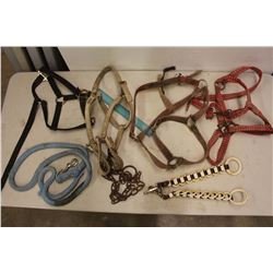 Lot of Assorted Horse Halters & Spreader