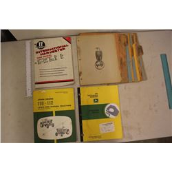 Lot Of Vintage John Deere Manuals, Case Eagle Page Dividers And IH Manual