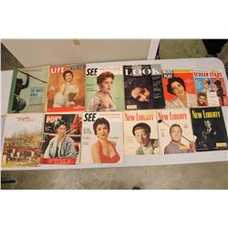 Lot of 1950's Magazines (Life, See, Post, Etc)