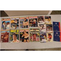 Lot Of Sports Related (Wrestling, Basketball, Hockey, Hockey Stamps)