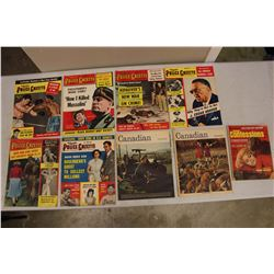 Lot Of 1950's and 60's Magazines (Canadian, Police Gazette, Confessions)