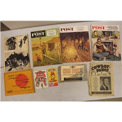 Lot of Vintage Paper Related Misc