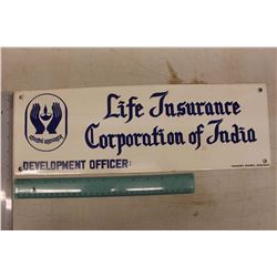 Life Insurance Corporation of India Porcelain Sign
