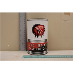 Reproduction Red Indian Motor Oil Tin