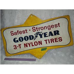 Tin Goodyear Sign, 3-T Nylon Tires (28' x 18')