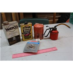 Lot of Automotive Misc: Oil Filter, Polish, Oil Spout, Etc