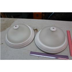 Ceiling Frosted Light Fixtures (2)