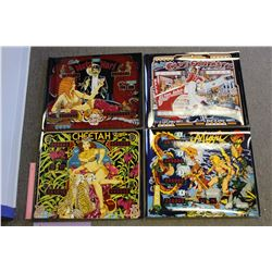 Photographic Reproductions of Pinball Backglasses (4)
