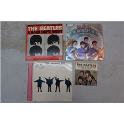 The Beatles Records (5)(4 LP Records & 1 45 Record)