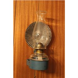 Wall Mount Coal Oil Lamp W/ Bracket