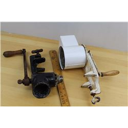 Antique Meat Grinder & Veggie Cutter