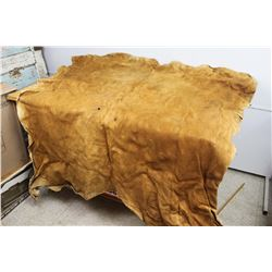 "Traditional Vintage Tanned Moose Hide Approx 60"" x 50"" Circa. 1960 (still supple)"