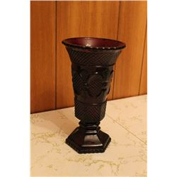 "Cape Cod Ruby Red Avon - 8"" Vase"