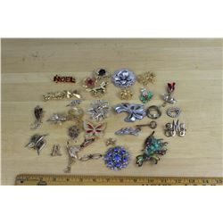 Vintage And Costume Brooch Lot