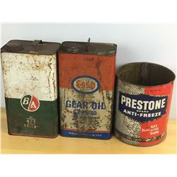 Lot Of Oil cans (3)