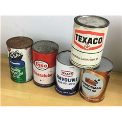 Lot Of Gas And Oil Related Cans (5)