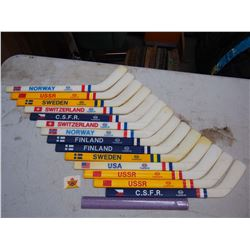 Lot Of IIHF World Jr. Hockey Championship Mini Sticks, Esso Imperial Oil