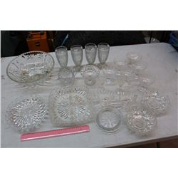 Lot of Crystal/Clear Glassware