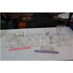 Lot of Clear Glassware (Mostly Dishware)